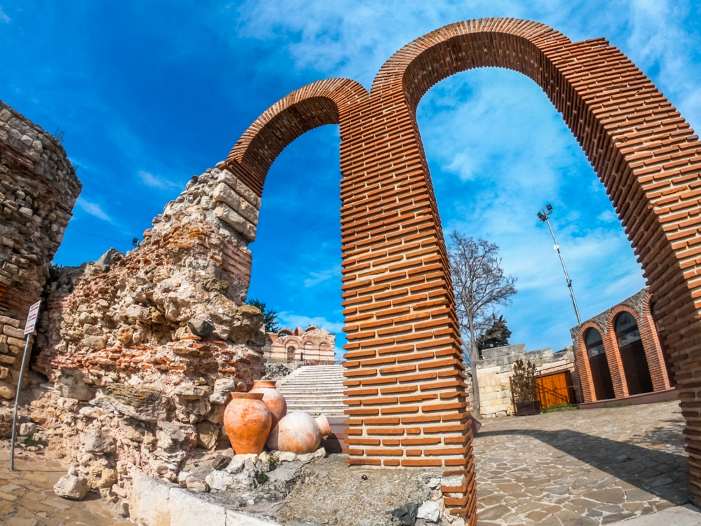The ancient amphitheater in Nessebar 1